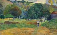 The Valley painting reproduction, Paul Gauguin