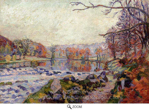 Armand Guillaumin, The Valley of the Creuse oil painting reproduction