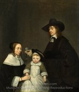 The Van Moerkerken Family painting reproduction, Gerard Ter Borch