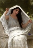 The Veil painting reproduction, William A. Bouguereau