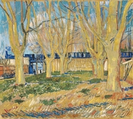 The Viaduct in Arles (The Blue Train) painting reproduction, Vincent Van Gogh