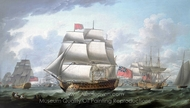 The Victory Sailing from Spithead painting reproduction, Robert Dodd
