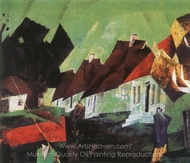 The Village of Alt-Sallenthin painting reproduction, Lyonel Feininger