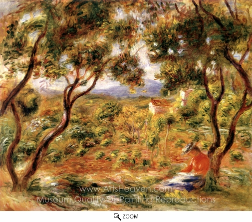Pierre-Auguste Renoir, The Vines at Cagnes oil painting reproduction