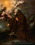 The Vision of Saint Francis of Paola painting reproduction, Bartolome Esteban Murillo