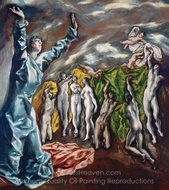 The Vision of Saint John painting reproduction, El Greco