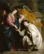 The Vision of the Blessed Hermann Joseph painting reproduction, Sir Anthony Van Dyck