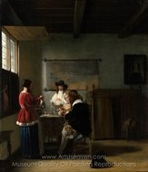 The Visit painting reproduction, Pieter De Hooch
