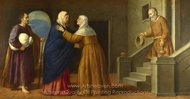 The Visitation painting reproduction, French Painter