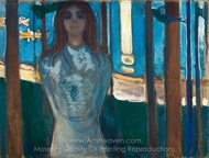 The Voice, Summer Night painting reproduction, Edvard Munch