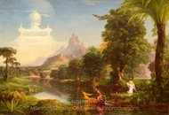 The Voyage of Life: Youth painting reproduction, Thomas Cole