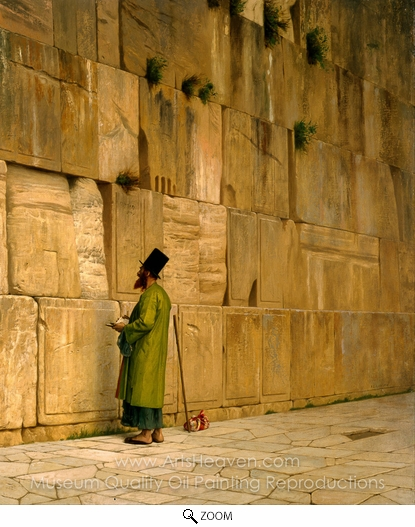 Jean-Leon Gerome, The Wailing Wall oil painting reproduction