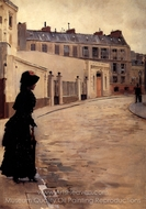 The Wait painting reproduction, Jean Beraud