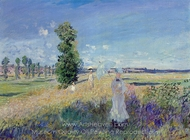 The Walk, Argenteuil painting reproduction, Claude Monet