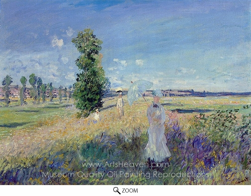 Claude Monet, The Walk, Argenteuil oil painting reproduction