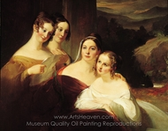 The Walsh Sisters painting reproduction, Thomas Sully