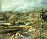 The Washerwoman painting reproduction, Pierre-Auguste Renoir