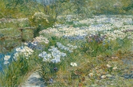 The Water Garden painting reproduction, Childe Hassam
