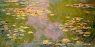 The Water-Lily Pond painting reproduction, Claude Monet