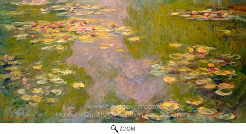 Claude Monet, The Water-Lily Pond oil painting reproduction