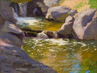 The Waterfall painting reproduction, Edward Henry Potthast