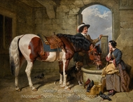 The Watering Place painting reproduction, John Frederick Herring Sr.