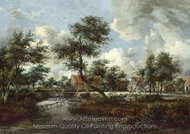 The Watermills at Singraven Near Denekamp painting reproduction, Meindert Hobbema