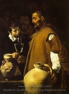 The Waterseller of Seville painting reproduction, Diego Velazquez
