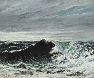 The Wave painting reproduction, Gustave Courbet