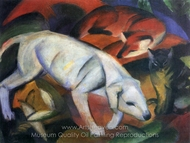 The White Dog painting reproduction, Franz Marc
