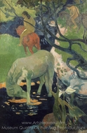 The White Horse painting reproduction, Paul Gauguin