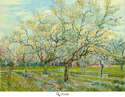 Vincent Van Gogh, The White Orchard oil painting reproduction