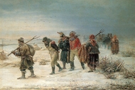 The Winter painting reproduction, Illarion Prianishnikov