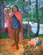 The Wizard of Hiva Oa painting reproduction, Paul Gauguin