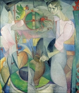 The Woman at the Well painting reproduction, Diego Rivera