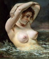 The Woman in the Waves painting reproduction, Gustave Courbet
