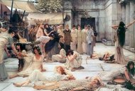 The Women of Amphissa painting reproduction, Sir Lawrence Alma-Tadema