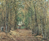 The Woods at Marly painting reproduction, Camille Pissarro