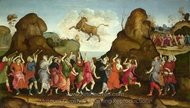 The Worship of the Egyptian Bull God, Apis painting reproduction, Filippino Lippi