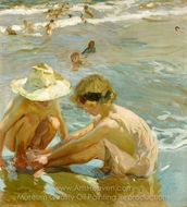 The Wounded Foot painting reproduction, Joaquin Sorolla