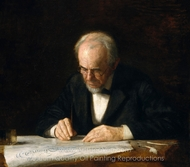 The Writing Master (Benjamin Eakins) painting reproduction, Thomas Eakins