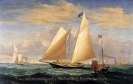 The Yatch America Winning the International Race painting reproduction, Fitz Hugh Lane