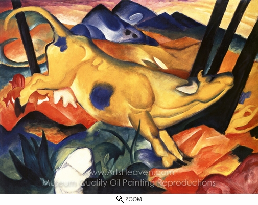 Franz Marc, The Yellow Cow oil painting reproduction