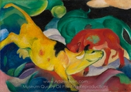 The Yellow Cow painting reproduction, Franz Marc