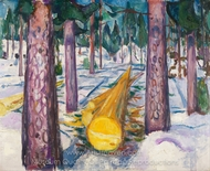The Yellow Log painting reproduction, Edvard Munch