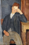 The Young Apprentice painting reproduction, Amedeo Modigliani