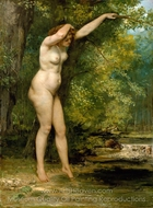 The Young Bather painting reproduction, Gustave Courbet