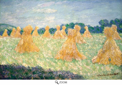Claude Monet, The Young Ladies of Giverny, Sun Effect oil painting reproduction