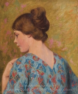 The Young Model painting reproduction, Federico Zandomeneghi