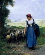 The Young Shepherdess painting reproduction, Julien Dupre